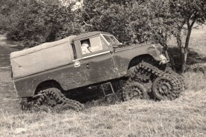 Landrover with tracks